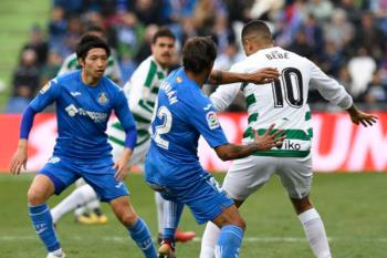 Empate a nada entre el Geta y el Eibar en un partido en el que lo más destacado fue la participación de los jugadores nipones Inui y Gaku Shibasaki