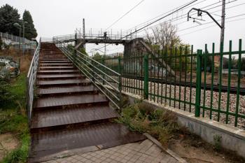 A consecuencia de las obras de reparación de una de las pasarelas