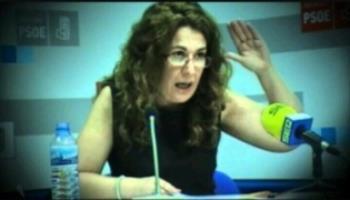 La portavoz socialista, Natalia de Andrés, dejó una deuda en EMGIASA de 333 millones de euros