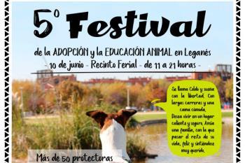 El Quinto festival de Adopción y Educación Animal llega a Leganés en el mes de junio