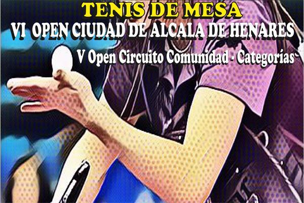 Alcalá de Henares recibe el VI Open de Tenis Mesa