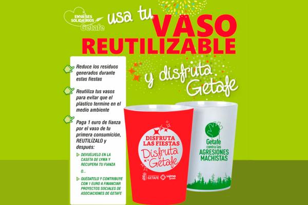 El Ayuntamiento de Getafe obligará a utilizar 40.000 vasos reciclables