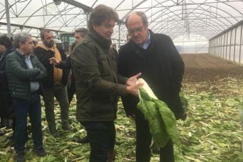 El candidato socialista para la Comunidad de Madrid ha estado acompañado por el alcalde, Javier Ayala