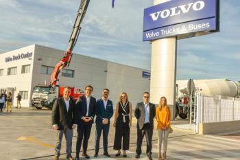 La multinacional sueca ha construido unas instalaciones destinadas a la reparación y mantenimiento de camiones y autobuses en el Polígono Casablanca