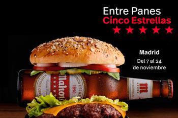 Mahou te invita a dos suculentas hamburguesas en los locales participantes en 'Entre Panes Cinco Estrellas'