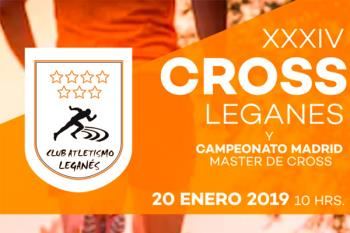 XXXIV Cross de Leganés forma parte del Campeonato de Madrid Máster de Cross