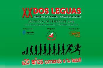 El próximo 3 de febrero tendrá lugar la 20 edición de la carrera 'Dos leguas fuente de la chopera - Ciudad de Leganés'