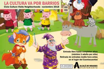 Los tres cerditos, El Rey Arturo, Los músicos de Bremen y El gato con botas en las Bibliotecas de Alcalá