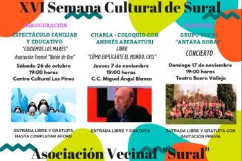 La iniciativa arranca el 26 de octubre con un espectáculo para familias, y continua con una conferencia de Andrés Abesturi y un concierto de 'Antara Korai'