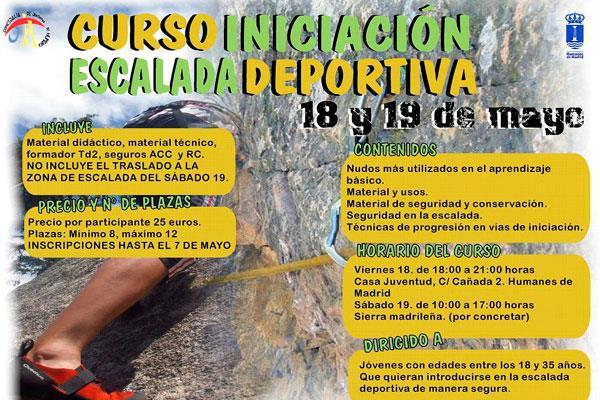 Ya se pueden realizar las inscripciones para el curso de iniciación a la escalada deportiva