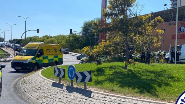 Accidente de tráfico en Alcorcón por un desmayo