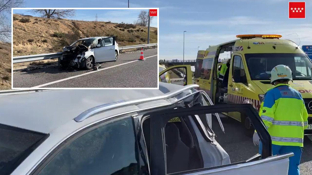 Uno de los coches se encontraba parado en el carril izquierdo de la vía