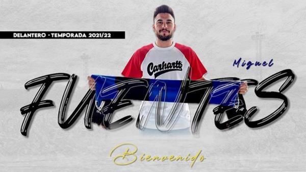 Miguel Fuentes es un jugador de 24 años llega al fútbol madrileño desde Castilla La Mancha