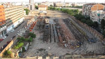 El pasado lunes prácticamente se completaron los trabajos de demolición