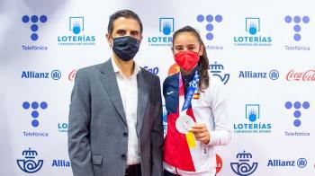 El alcalde acompañó Adriana Cerezo y David Valero en el recibimiento del COE por sus medallas olímpicas