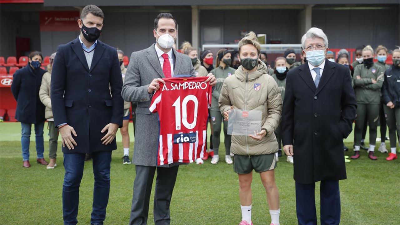 El vicepresidente asistió al entrenamiento del Club Atlético de Madrid Femenino en el centro deportivo Wanda Alcalá de Henares