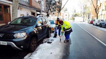 Este domingo se inició un dispositivo para la limpieza de imbornales ante las previsiones de fuertes lluvias