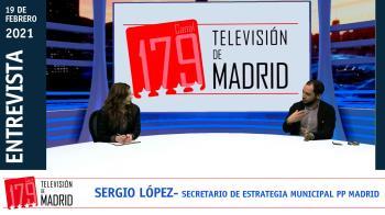 El secretario de Estrategia Municipal del PP de Madrid, Sergio López, repasa la actualidad política en Televisión de Madrid