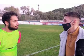 El capitán de la RSD Alcalá, Alberto Benítez, atendió a Soy de Alcalá tras el empate a cero del equipo alcalaíno ante el Rayo B en el Val