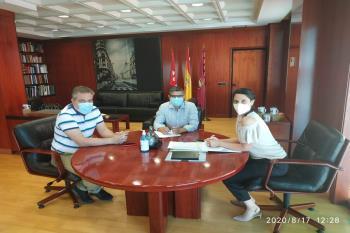El alcalde se ha reunido con la portavoz adjunta del Grupo Socialista en la Asamblea de Madrid en la región