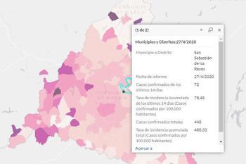 La Comunidad de Madrid ha hecho públicos los datos epidemiológicos por municipio