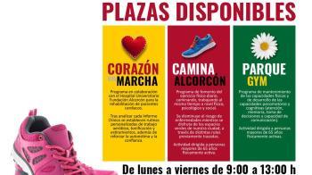 Quedan plazas para 'Parque-Gym', 'Caminalcorcón' y 'Corazón en Marcha'
