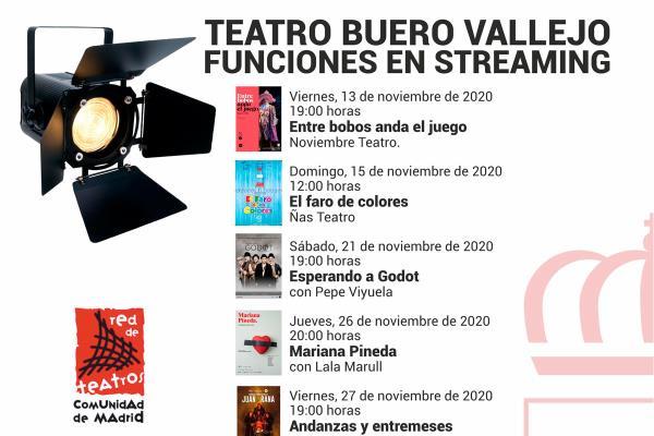 Alcorcón continúa apostando por el teatro en streaming desde el Buero Vallejo