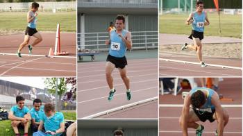 El entrenador del Club Atletismo Arroyomolinos se ha subido a lo alto del podio en los 5000 metros lisos en Zaragoza