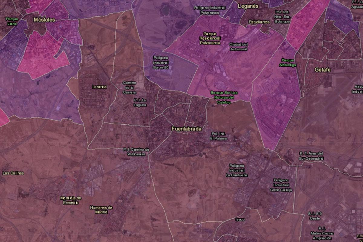La covid-19 está afectando mucho en varias zonas de Fuenlabrada