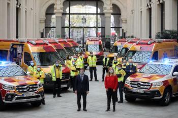 Se trata de 45 ambulancias de soporte vital básico, 21 UVI móviles, 18 vehículos de intervención rápida y uno para pacientes psiquiátricos