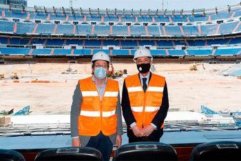 El presidente del Real Madrid le proporcionó todos los detalles acerca de la voluminosa obra que finalizará en septiembre
