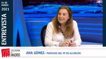 La portavoz del Partido Popular de Alcorcón repasa en Televisión de Madrid la actualidad municipal