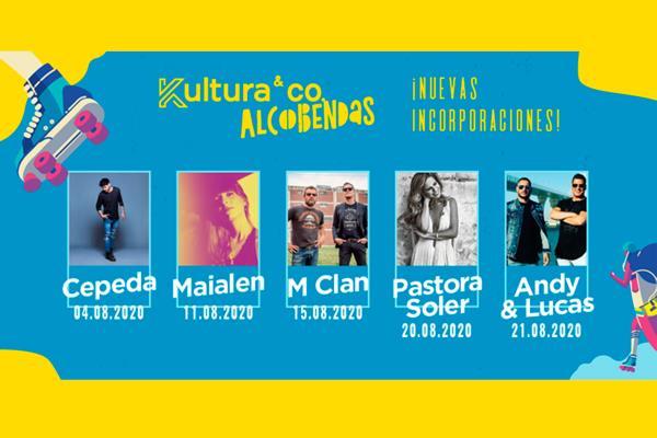 Andy & Lucas, Pastora Soler, Cepeda, M-Clan y Chica Sobresalto, nuevas incorporaciones del Kultura&Co de Alcobendas
