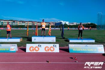 El atleta leganense participó en la prueba de 200 metros lisos
