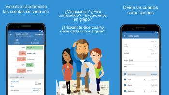 La aplicación registra los pagos de cada persona y te indica quién le debe dinero a quién para igualar las cuentas