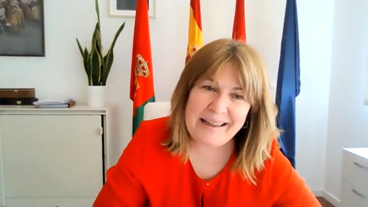 Natalia de Andrés ha anunciado la modificación de la RTP en la rueda de prensa de esta mañana