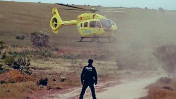 El ciclista sufrió un accidente por el que tuvo que ser recogido en helicóptero