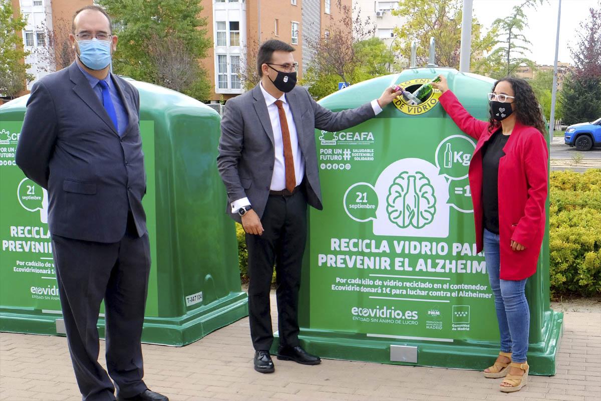 Los ciudadanos de Sanse y Alcobendas ya tienen instalados los contenedores verdes con la imagen de la campaña solidaria de EcoVidrio