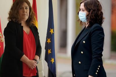 Lee toda la noticia 'Isabel Diaz Ayuso visita el Hospital de Alcorcón y la alcaldesa, Natalia de Andrés, lamenta que no visite las residencias'