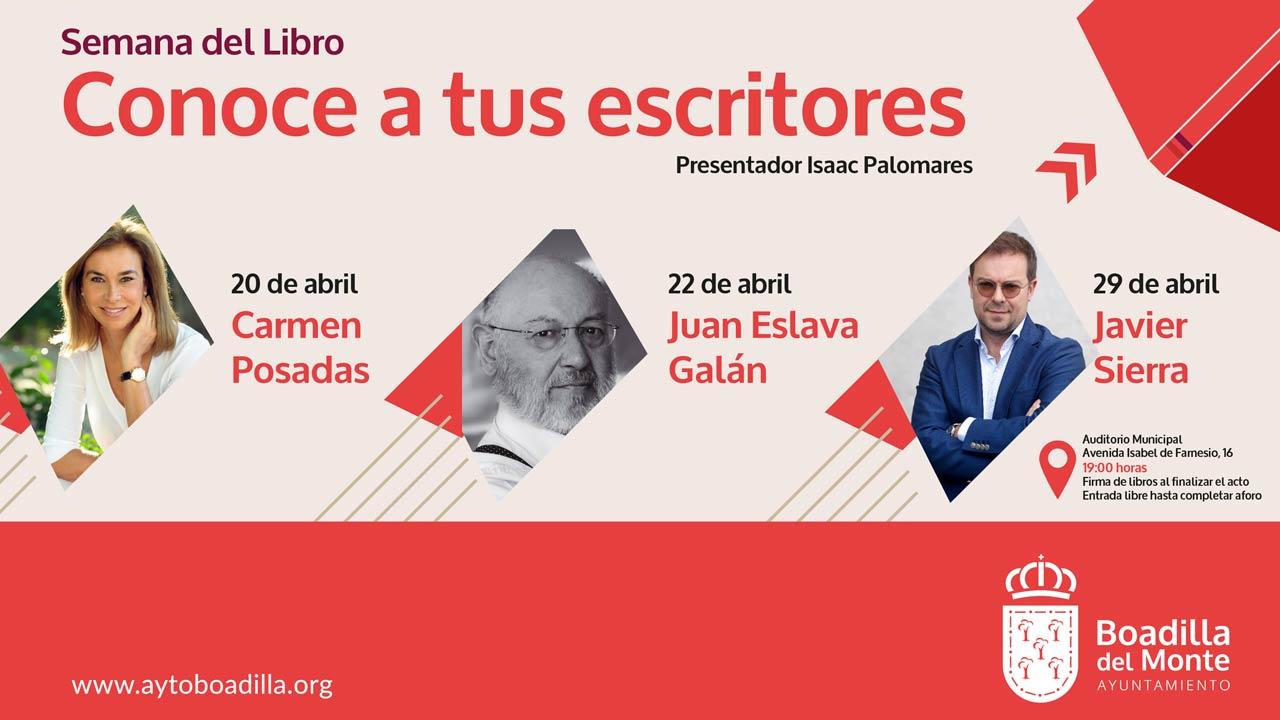 Carmen Posadas, Juan Eslava Galán y Javier Sierra impartirán algunas de las charlas