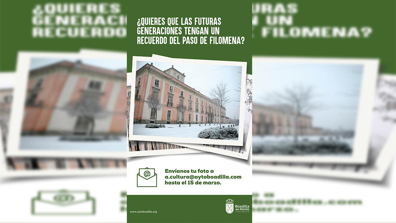 Boadilla quiere añadir a su archivo municipal fotografías del temporal Filomena