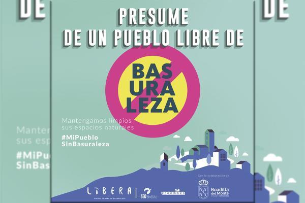 Boadilla se suma a la campaña #MiPuebloSinBasuraleza