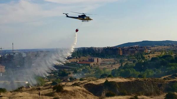 Ardieron 2 hectáreas de pasto en la zona de Lavanderas del Manzanares