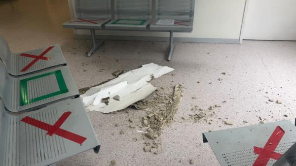 Cae parte del techo del Infanta Sofía