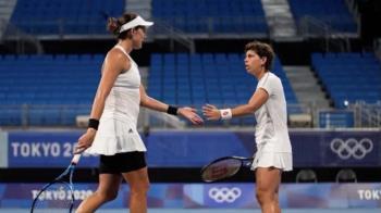 Junto a Muguruza perdieron su partido del torneo olímpico de Tokio 2020 frente a las suizas Belinda Bencic y Viktorija Golubic