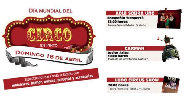 Celebra el Día Mundial de Circo en Pinto