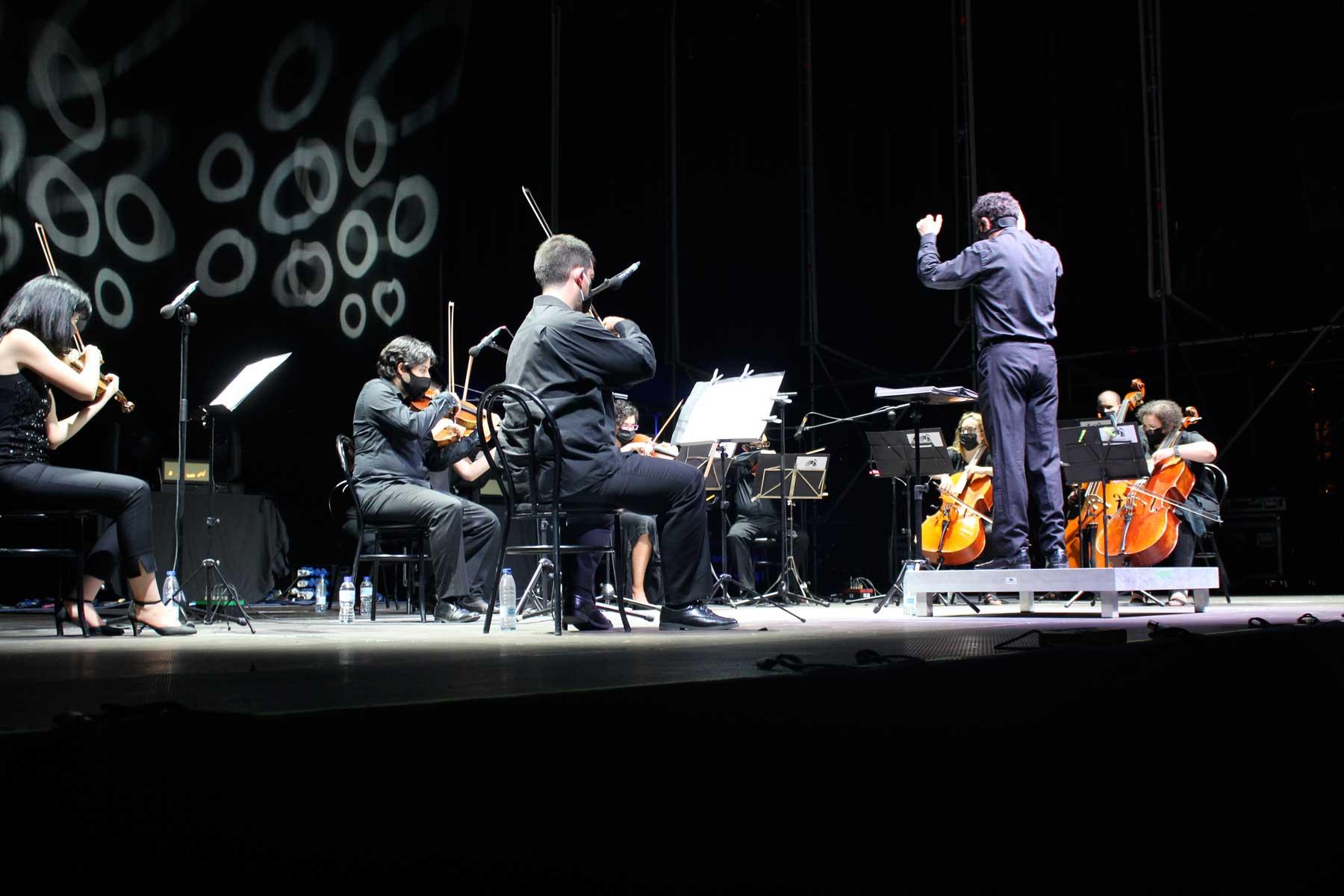 Alrededor de 300 personas acudieron al encuentro, a cargo de la Orquesta Filarmónica de La Mancha