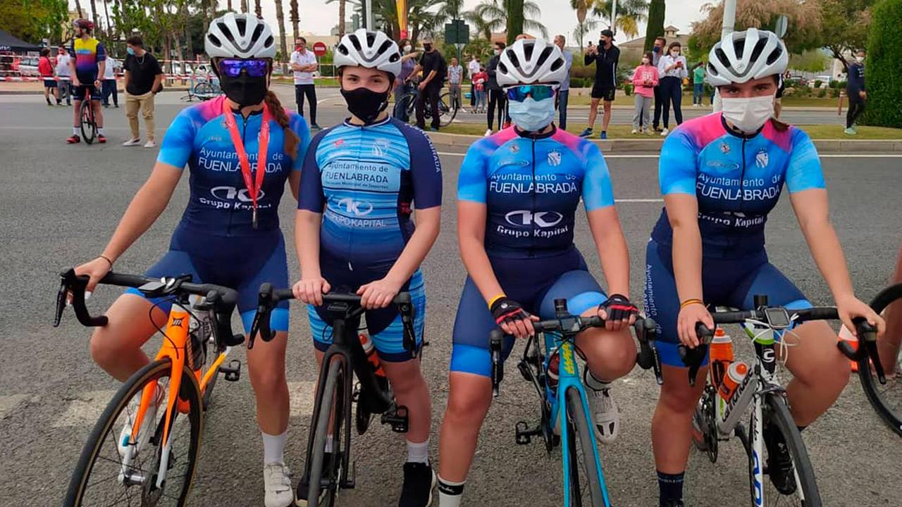 Ha sido una de las cuatro representantes de Fuenlabrada en la competición de ciclismo
