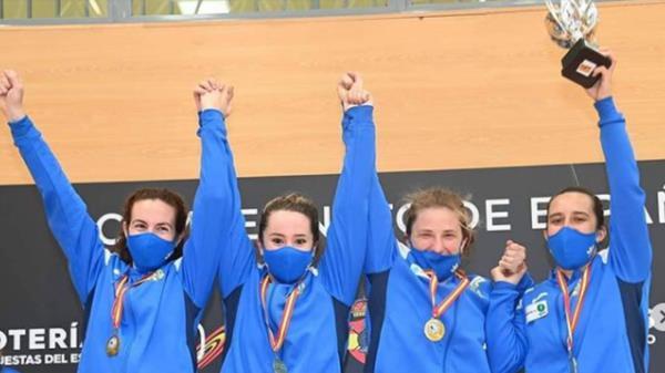 Inés García, Claudia Arribas, Naiara Aldana y Sara Fernández Calleja se han llevado el oro por cuarta vez