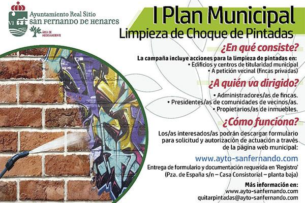 """Comienza el """"I Plan Municipal de Limpieza de Choque de Pintadas"""" en Sanfer"""